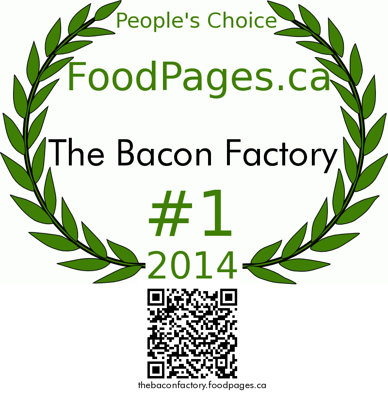 The Bacon Factory FoodPages.ca 2014 Award Winner
