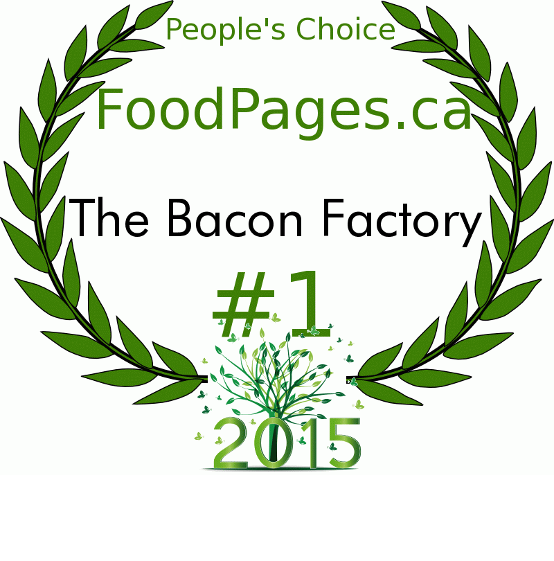 The Bacon Factory FoodPages.ca 2015 Award Winner