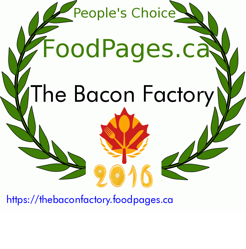 The Bacon Factory FoodPages.ca 2016 Award Winner